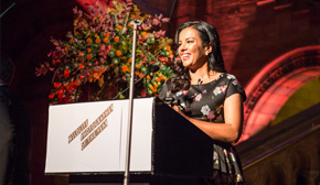 Liz Bonnin hosts the Wildlife Photographer of the Year awards ceremony