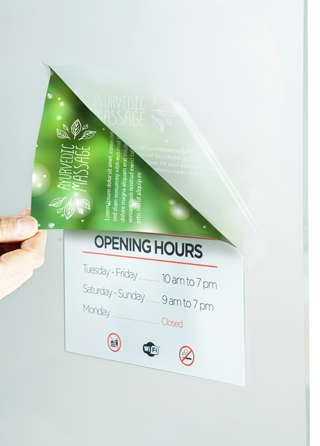 8mil Opaque Double-Sided Window Graphics