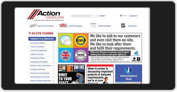 New Action Handling website