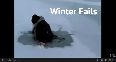 YouTube winter fails video