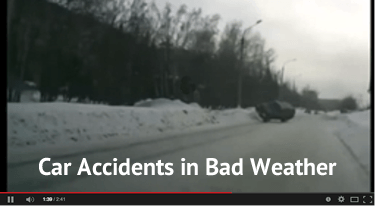 YouTube car accidents in bad weather video