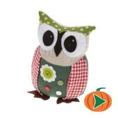 Girl Owl Fabric Doorstop