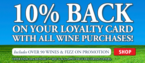 10% Back on your Loyalty Card